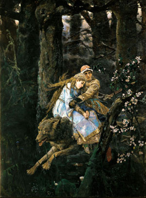 Ivan Tsarevich and the Grey Wolf by V.Vasnetsov